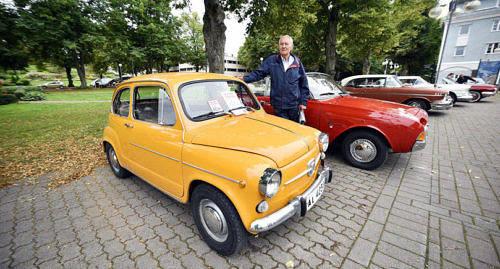 VINNARE En orange Fiat 600 kammade hem flest publikr�ster.