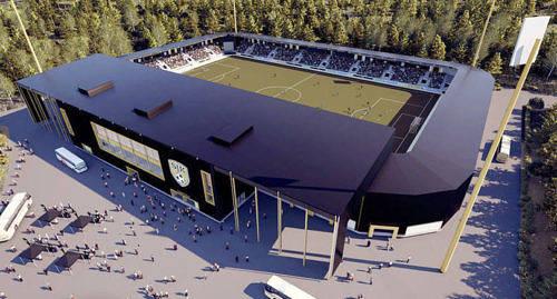 13 MILJONER S� mycket kostade Sein�jokiklubben SJK:s nya fotbollsarena som �r en del av klubbens strategi - att spela p� Europaniv�. Nu kanske klubbens starke man Raimo Saraj�rvi ocks� lyckas �ndra bollf�rbundets regler om spelpass.