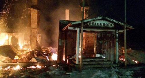 TOTALFÖRSTÖRT Det var i februari 2015 som Frideborg i Jomala brann ned.