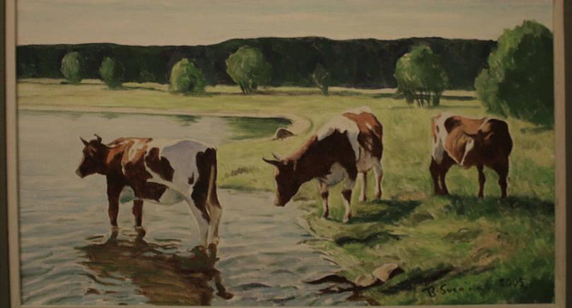 EFTERTRAKTAD Bengt Svenblads tavla såldes redan innan utställningen öppnade.