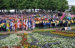 MARKNADSFÖRING Att resa till nya platser ingår i idrottandet. Därför är idrotten i sig stark som marknadsföring av Åland. Bilden är från öspelens avslutning på Åland 2009 där 2900 personer deltog.
