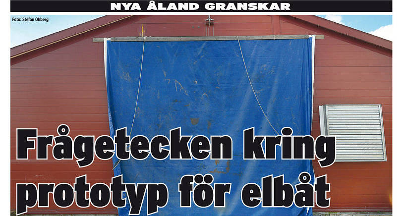 I oktober 2015 berättade Nya Åland om ett antal frågetecken kring Båthusets elbåtsprojekt. Nu har landskapsregeringen polisanmält företaget.