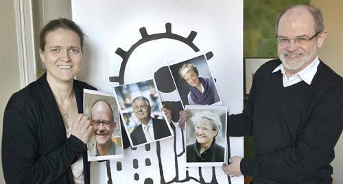 BRETT PERSPEKTIV Susann Simolin och Kjell-Åke Nordquist på Fredsinstitutet tror att de fyra deltagarna i årets Kastelholmssamtal kan komplettera varandra bra med kunskaper från olika vinklar. På bilderna från vänster professor Nils Petter Gleditsch, ambassadör René Nyberg, tidigare integrationsministern i Finland Astrid Thors och tidigare framtidsministern i Sverige Kristina Persson.