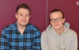 LÄRARE Tommy Björkbom och Anton Johansson undervisar i matte respektive musik i Övernäs högstadieskola.