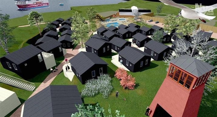 NYTT LIV Vad sägs om en ny stugby och poolområde i Västra hamnen? Mariepark Ab anhåller om stadsplaneändring för att förverkliga parken där bolaget vill satsa upp till 4,5 miljoner euro.