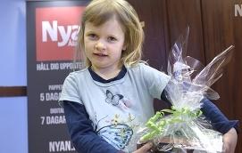Vilma Sjöholm utsågs till vinnare i påskgrästävlingen.