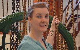 MUSEIJOBB Inger Lundberg är biträdande intendent för Ålands sjöfartsmuseum. På fritiden cyklar hon mountainbike och håller på med yoga.