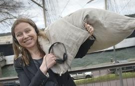 TÄNKER POSITIVT Allt det fina med Pommernprojektet glöms bort i den politiska debatten, menar museichef Hanna Hagmark-Cooper.