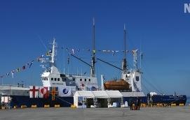 TAR AVSTÅND Landskapsregeringen tänker som vanligt ta skolfartyget Michael Sars till Almedalen, men gillar inte att Nordiska motståndsrörelsen är på plats.