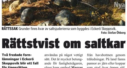 Nya Åland i går.