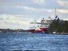 Med anledning av risken för smittspridning har städningen på Viking Lines färjor intensifierats ytterligare. På bilden Amorella och Viking Grace.