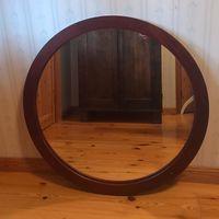 Spegel rund stor 88 dm ink. Lös träram