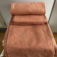 Tyg aprikos/orange (melerat) stadigt för möbler/gardin 10m