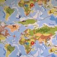 Tygtavla världskarta